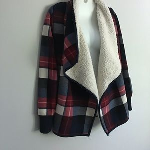 ❌Abercrombie & Fitch Plaid Sherpa Cardigan~XS❌